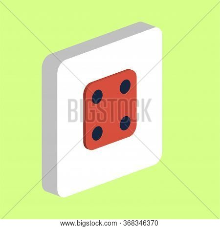 Dice Cube Side Four Simple Vector Icon. Illustration Symbol Design Template For Web Mobile Ui Elemen