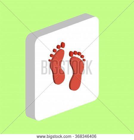 Feet, Human Footprints Simple Vector Icon. Illustration Symbol Design Template For Web Mobile Ui Ele