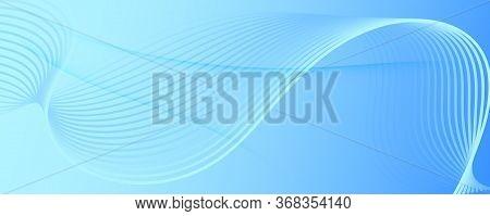 Light Gradient Background. 3d Flow Line Brochure. Vivid Digital Landing Page. Blue Futuristic Illust