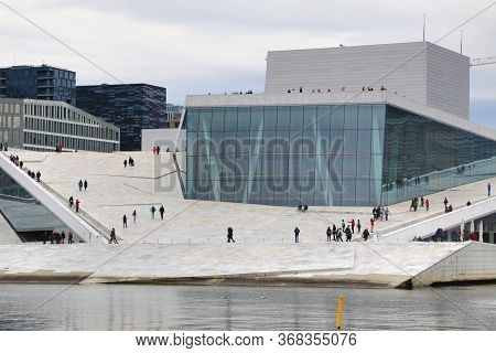 Oslo, Norway  May 21  ,2019  The Oslo Opera House Is A National Opera Theatre In Norway