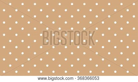 Polka Dot White On Brown Pastel Soft Background, Brown Pastel Simple With Polka Dot White Small Patt