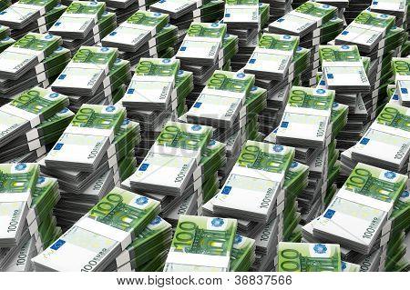 100 Euros Money Stack