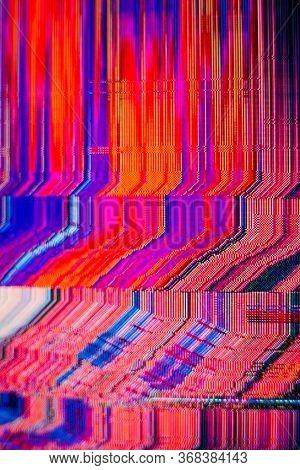 Abstract Glitch Background. Glitch Art. Pixelated Texture. Digital Errors On The Screen. Digital Art