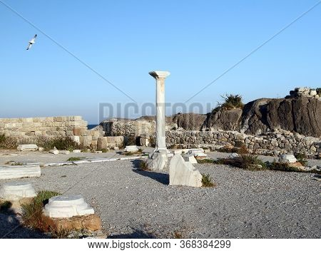 Ruins Of The Altar Of The Basilica Of The 5th Century. Kos Island. Greece
