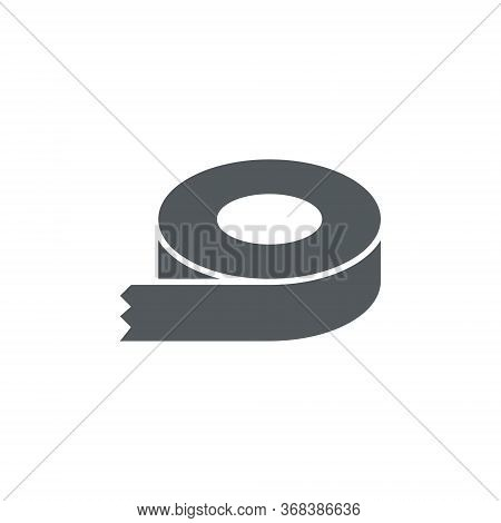 Sticky Tape Vector Icon. Dispenser Drawing Flat Scotch Label Adhesive Tape Roll.