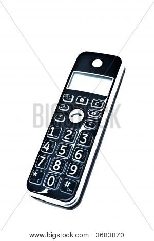 dect phone isolated on a white background poster