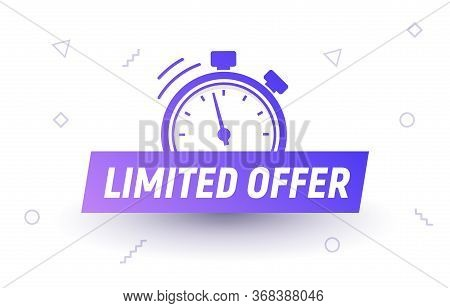 Promo Limited Offer Sale Price Tag. Last Limited Offer Clock Countdown Special Label Logo Design