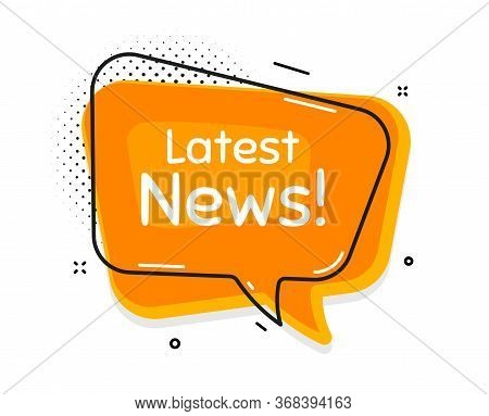 Latest News Symbol. Thought Chat Bubble. Media Newspaper Sign. Daily Information. Speech Bubble With