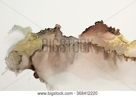 Abstract watercolor and acrylic flow blot painting. Color canvas marble texture background. Alcohol ink.