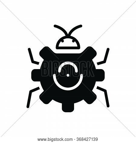 Black Solid Icon For Bug-fixing Bug Fixing Technology Virus Software