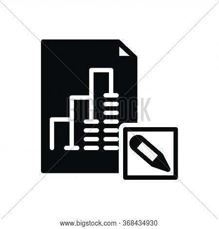 Black Solid Icon For Report-editor Report Editor Proofread Blogging Manuscript