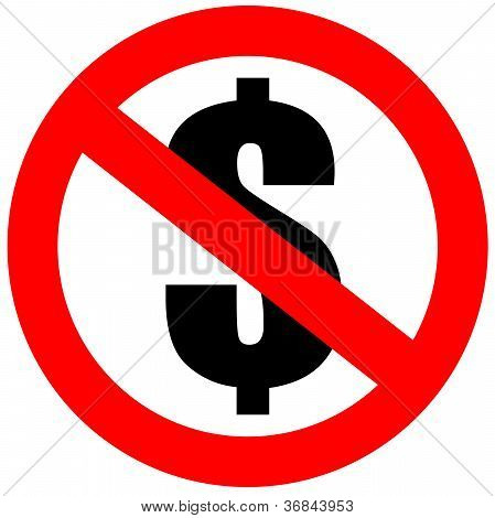 No money dollar sign