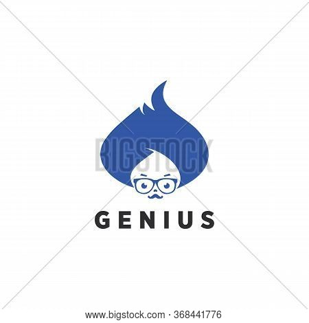 Genius Logo Simple And Vector School, Brainstorm, Brainstorming