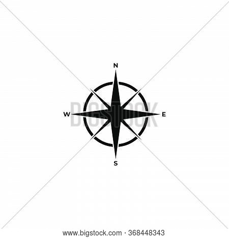 Compass Icon.navigation Sign.vector Illustration Of Compass Icon.compass Icon Isolated On White Back