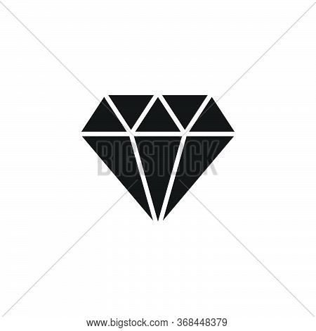 Diamond Icon.jewelry Icon Vector Illustration.gemstone Symbol.diamond Icon Isolated On White Backgro
