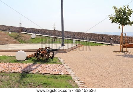 Sibenik, Croatia - September 12, 2016: This Is A Modern Park On The Territory Of The Barone Fortress