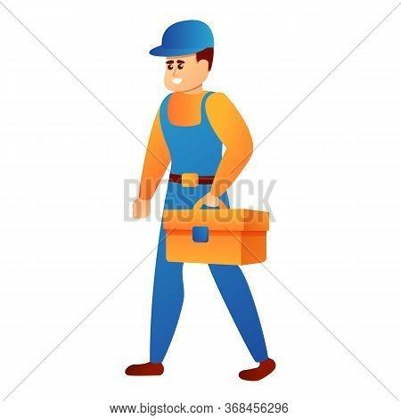 Repairman Tool Box Icon. Cartoon Of Repairman Tool Box Vector Icon For Web Design Isolated On White