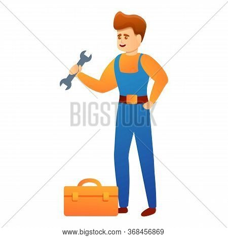 Repairman Steel Toolbox Icon. Cartoon Of Repairman Steel Toolbox Vector Icon For Web Design Isolated