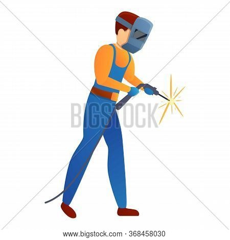 Repairman Welder Icon. Cartoon Of Repairman Welder Vector Icon For Web Design Isolated On White Back