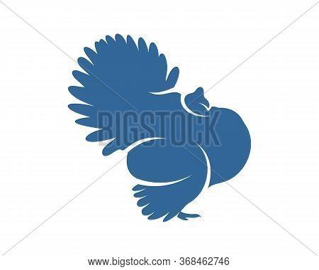 Turkey Logo Vector Design Template, Silhouette Turkey Logo, Illustration
