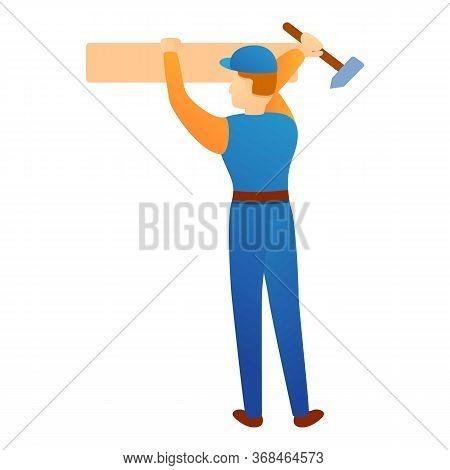 Repairman Change Wood Bar Icon. Cartoon Of Repairman Change Wood Bar Vector Icon For Web Design Isol