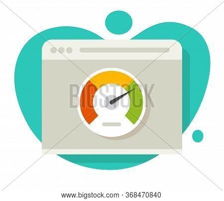 Speed Of Website Loading Vector Icon And Internet Page Performance Test Or Idea Of Seo Optimization