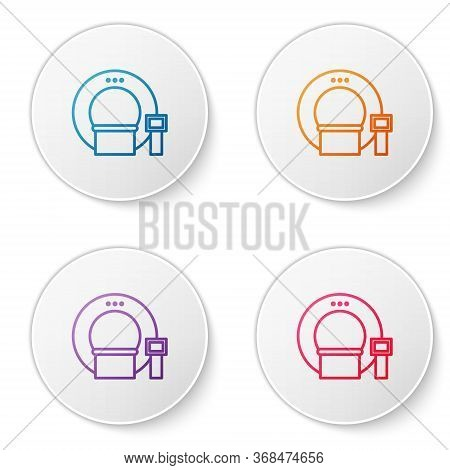 Color Line Tomography Icon Isolated On White Background. Medical Scanner, Radiation. Diagnosis, Radi