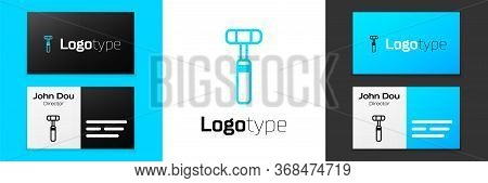 Grey Line Neurology Reflex Hammer Icon Isolated On White Background. Vector Illustration.