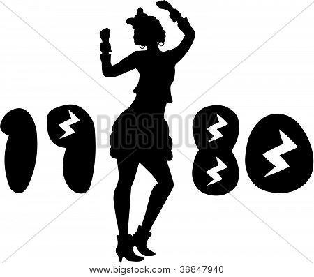 Retro Eighties Woman