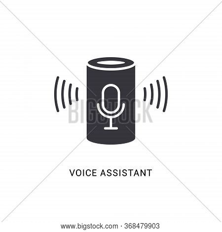 Voice Assistant Smart Icon. Digital Voice Assistant Speaker Home Vector Icon, Computer Control Devic