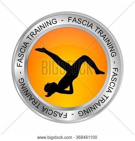 Orange Fascia Training Button - 3d Illustration