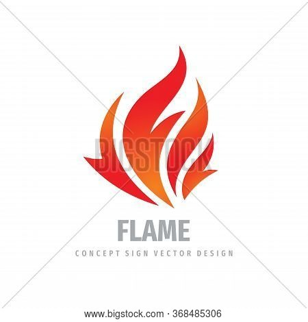 Fire Logo Graphic Design. Flame Concept Icon. Ignite Red Sign. Dangerous Vector Logo Symbol.