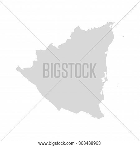 Nicaragua Vector Map Country. Nicaragua America Administrative Republic Shape Isolated