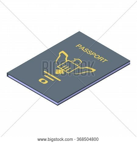 Id Passport Icon. Isometric Of Id Passport Vector Icon For Web Design Isolated On White Background