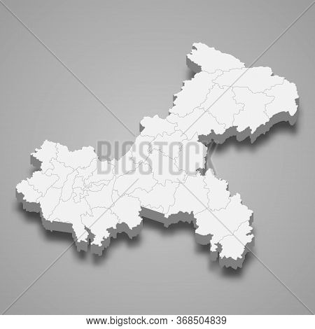 3d Map Province Of China Template For Your Design