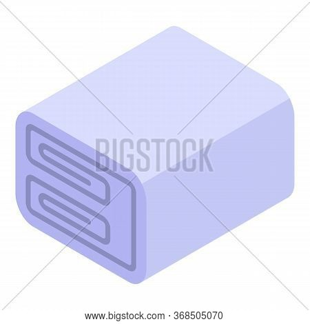 Fabric Blanket Icon. Isometric Of Fabric Blanket Vector Icon For Web Design Isolated On White Backgr