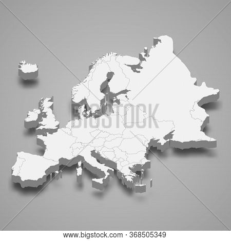 3d Map Of Europe Template For Your Design