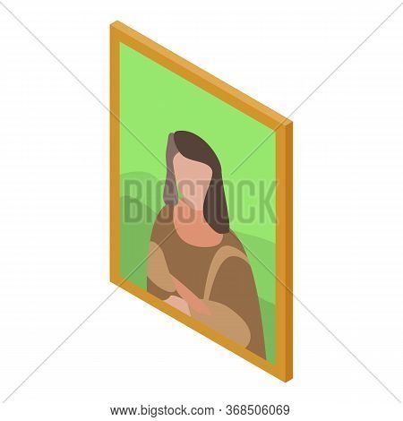 Excursion Wall Picture Icon. Isometric Of Excursion Wall Picture Vector Icon For Web Design Isolated