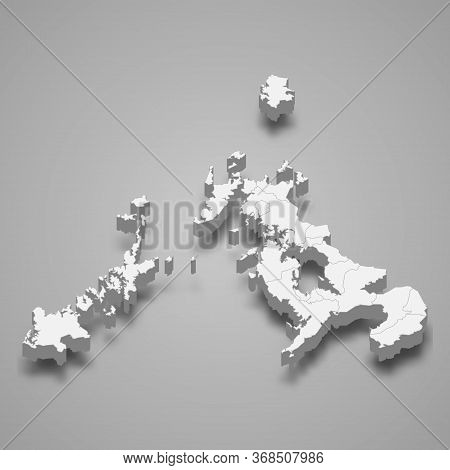 3d Map Prefecture Of Japan Template For Your Design