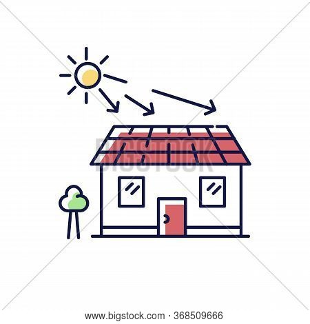 Solar Batteries Rgb Color Icon. Ecological Power Generation For Home. Electricity Supply. Install Ro