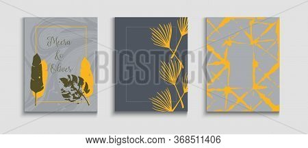 Abstract Elegant Vector Banners Set. Geometric Border Texture. Hand Drawn Asian Background. Japanese