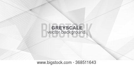 Halftone Dynamic Gray Vector Background. Dots Pop Art Light Texture. Halftone Wallpaper. Edgy Tile.