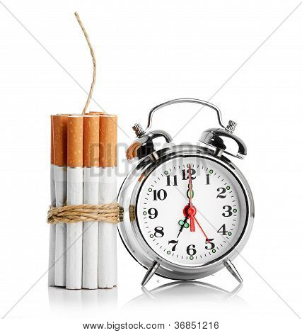 stop smoking concept isolated on a white poster