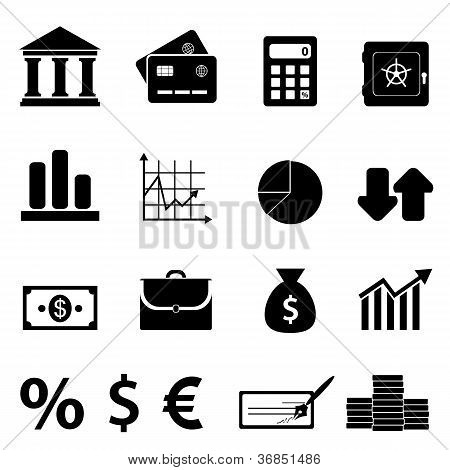 Finance, Business And Banking Icons