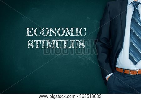 Government Economic Stimulus After Covid-19 And Another Crisis Times Concept. Monetary And Fiscal Po