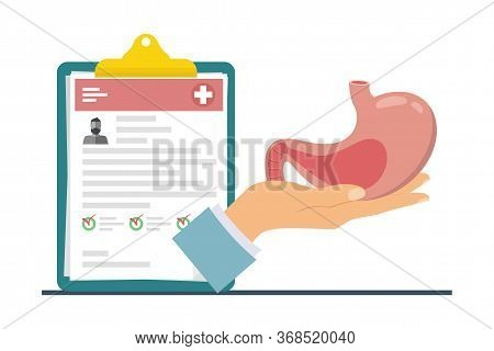Gastric Transplantation. The Concept Of Donating An Internal Organ For Transplantation. Human Organ