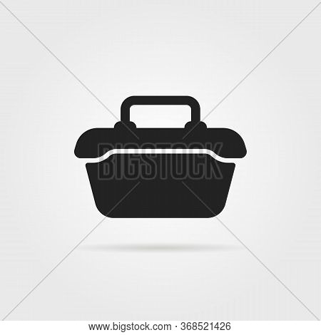 Tool Or Food Container Black Icon. Flat Simple Style Trend Modern Graphic Minimal Design. Concept Of