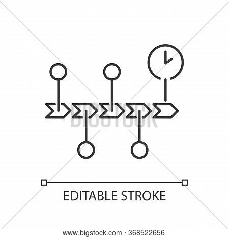 Chronology Pixel Perfect Linear Icon. Scientific Field Of Study, History, School Subject Thin Line C