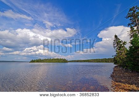 Afternoon Clouds On A Wilderness Lake
