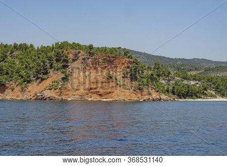 Coastal Scenery Including A Landslip Around Alonnisos In Greece